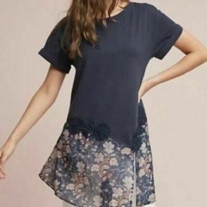 Akemi+Kin | Anthropologie navy  short sleeve tunic